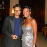 DEC 25 2010 With Trinidad Vocalist Natasha Benjamin, at Hotel Royal Torarica Paramaribo